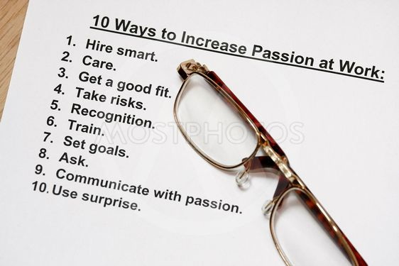 ten ways to increase passion at work
