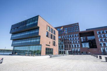 Outokumpu company headquarter in summer