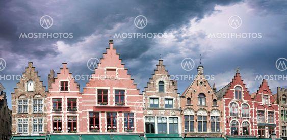 Byggnader i Brygge i Belgien