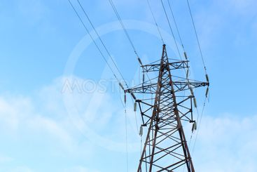 power line, high voltage lines, the sky