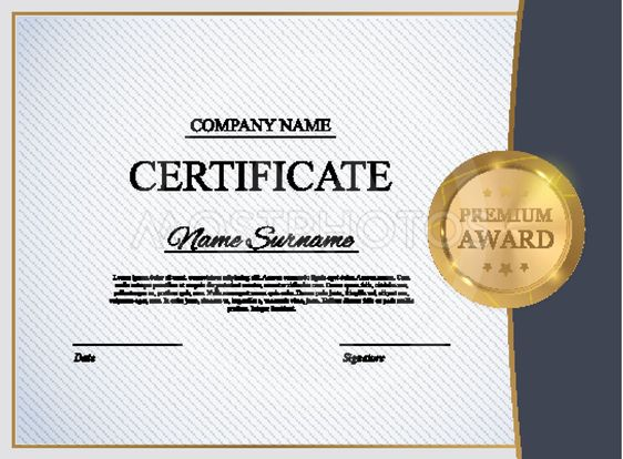 Certificate Template Backgr By Yulia Yulia Mostphotos
