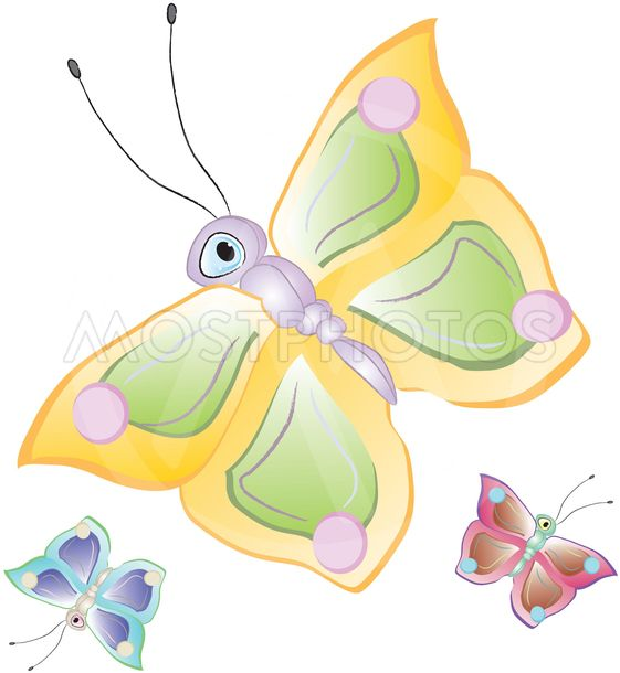 Karikatyr fjärilar