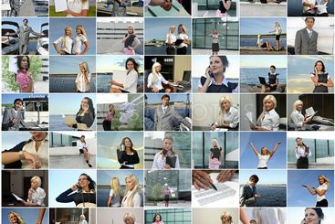 Business collage. Made of 49 photos.