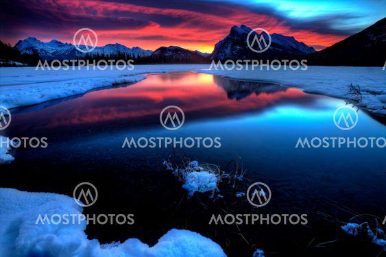 Sunset Mount Rundle