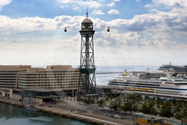 funicular in the Barcelona