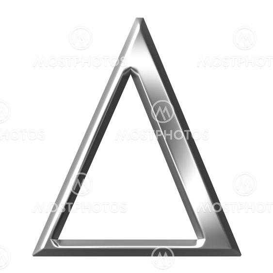 3d Silver Greek Letter Delta By Georgios Kollidas Mostphotos