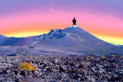 spain; canary islands; lanzarote : timanfaya, lava,...