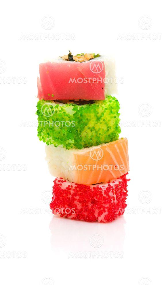 Japansk mat. rullar. vertikala foto.
