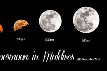 Super moon in Maldives