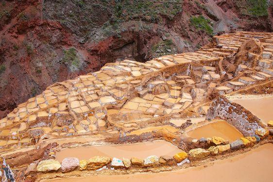 Salinas de Maras - salt evaporation ponds near town of...