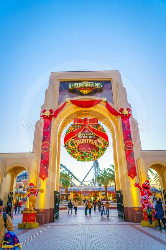 OSAKA, JAPAN - December 1, 2015: Universal Studios Japan...