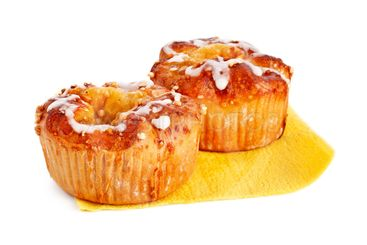 two apple cakes