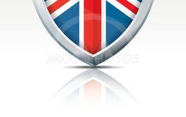 Shield with Flag of United Kingdom