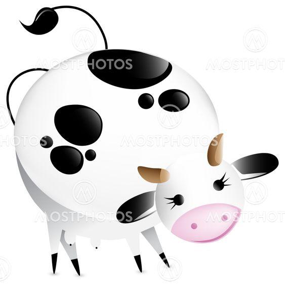 Söpö vektori lehmän