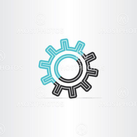 gear icon vector logotype symbol design