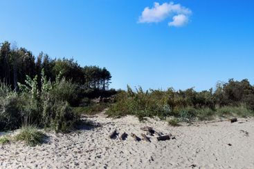 Part of the beach section of Swinoujscie in Poland