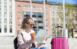 summer vacation, tourism and travel concept - young...