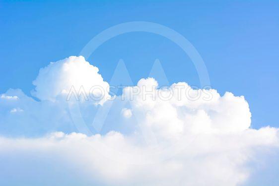 Blue cloudy sky.