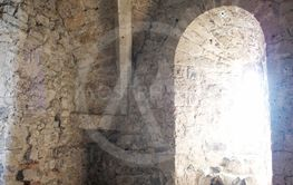 Arched Window Inside a Castle