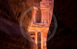 The Treasury of Petra city, Jordan