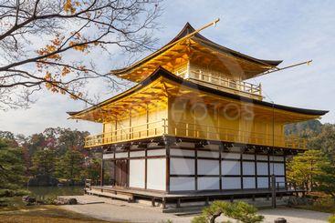 Kinkakuji temple in autumn, Kyoto, Japan.