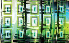 green geometric pattern vector illustration