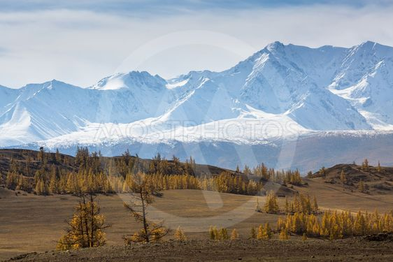 View of the mountain North-Chuya ridge of Altai Republic,...