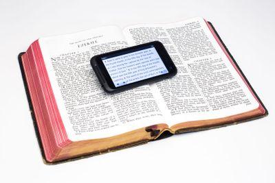 Worn Bible and Smartphone - Ezekiel