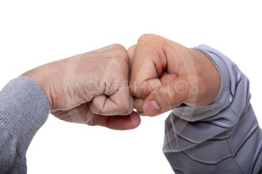 Two fists, isolated