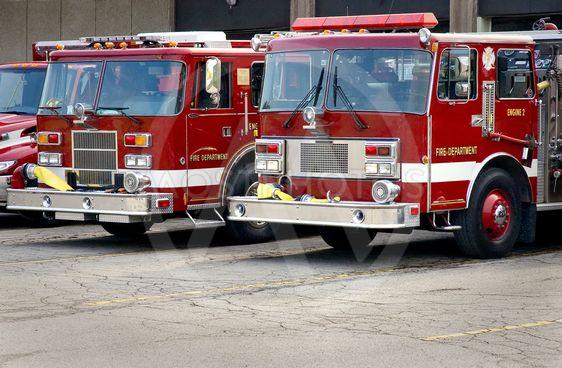 Fire Trucks Close-up