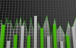 Stock Market chart. Business graph