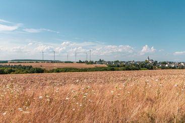 Wind turbines near Moersfeld in Germany