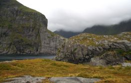 bay and mountains in lofoten