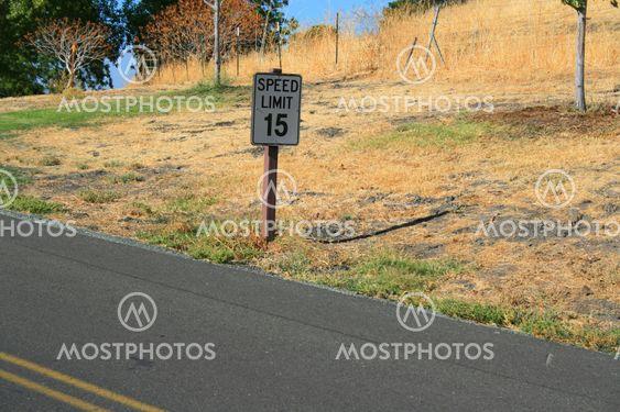 Hastighetsgräns Vägskylt