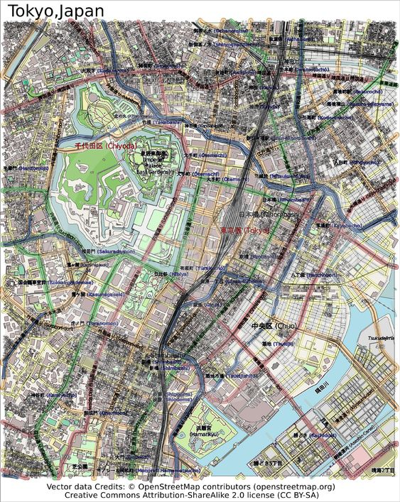 Aerial Map Of Japan.Tokyo Japan Map Aerial View By Jrtburr Mostphotos