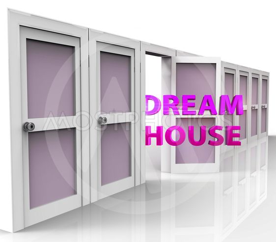 Dreamhouse Doorways Means Finding Your Dream House Or...