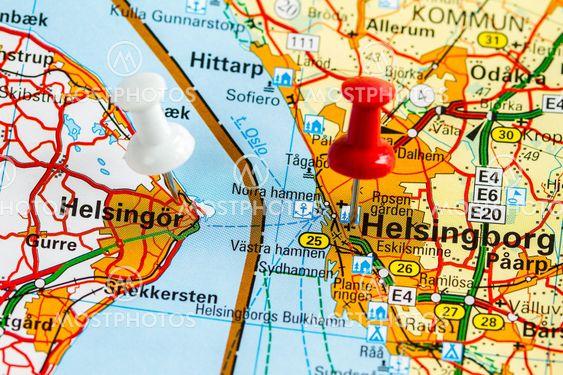 Karta Over Helsingborg Hels Av Bengt Hultqvist Mostphotos