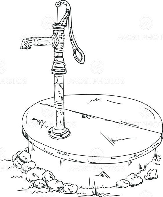 vector - old water pump