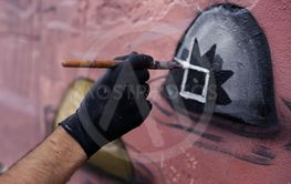 The process of creating graffiti