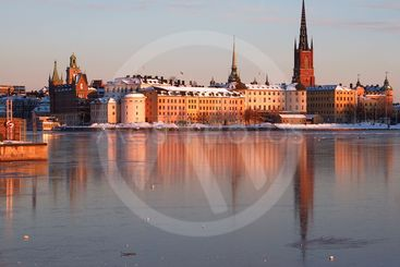 Riddarholmen in winter.