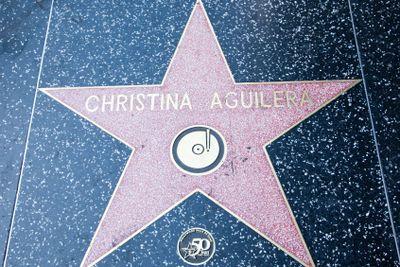 Christina Aguilera's Hollywood Star