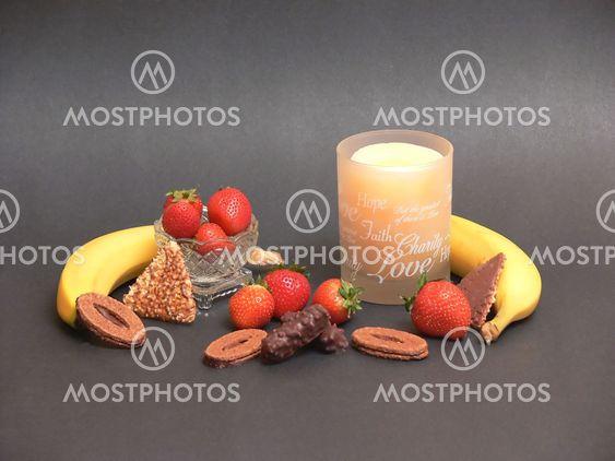 Frugt og chokolade