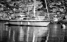 Segelbåten med handduken