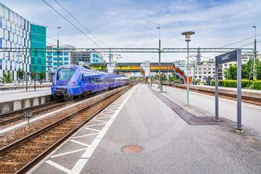 Skånetrafiken pågatåg på Lund C