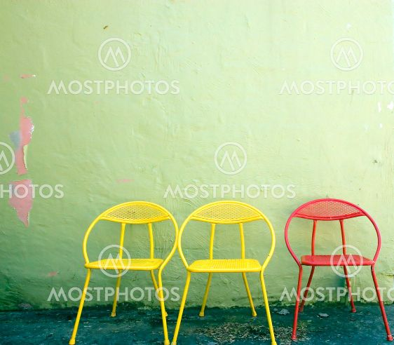 Red and Yellow Chairs