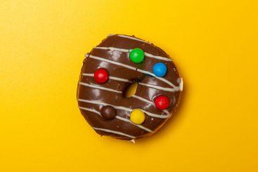 chocolate vanilla donut