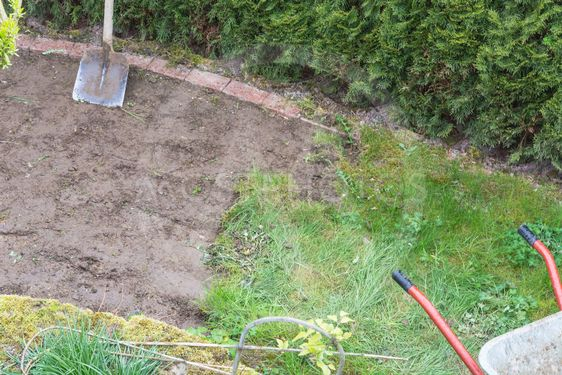 Remove of the old grass sward