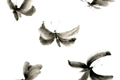 Sumie butterflies