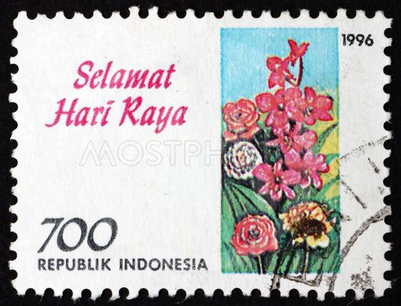 Postage stamp Indonesia 1996 various flowers