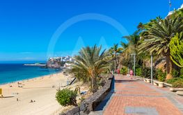 Morro Jable beach, Fuerteventura island, Canary Islands,...